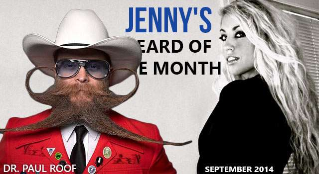 Dr. Paul Roof - Jenny's Beard Of The Month - September 2014
