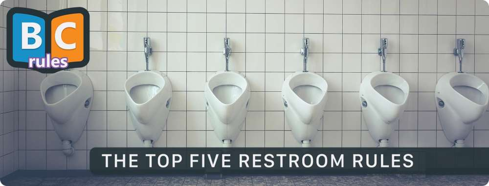 The Top Five Male Restroom Etiquette Rules