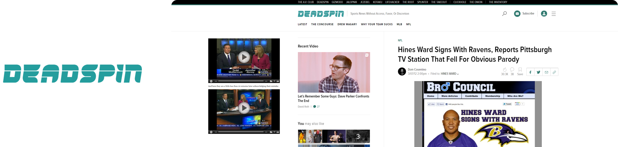 Bro Council Press - Deadspin