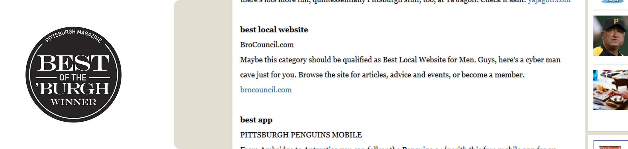 Bro Council Press - Pittsburgh Magazine