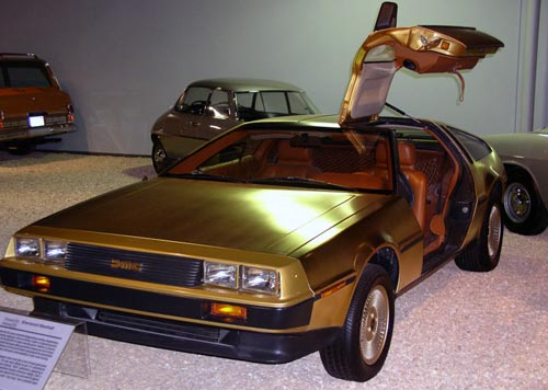 gold-delorean