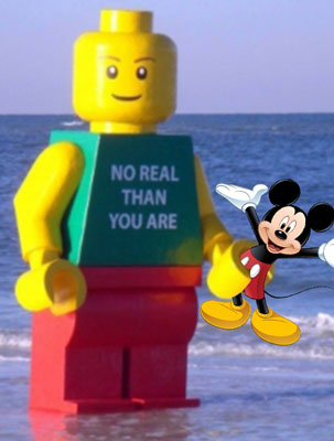 Lego Man Attacks Mickey Mouse