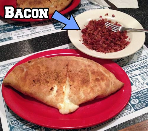 Calzone and Bacon
