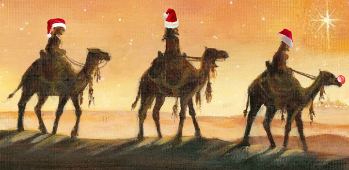 Santa's Wisemen and Rudolph The Red-Nosed Camel