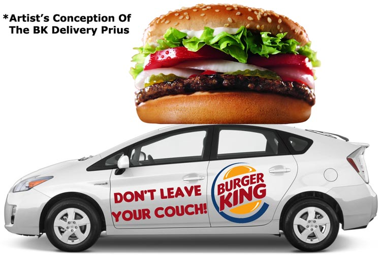 Artists Conception Of The Burger King Delivery Prius