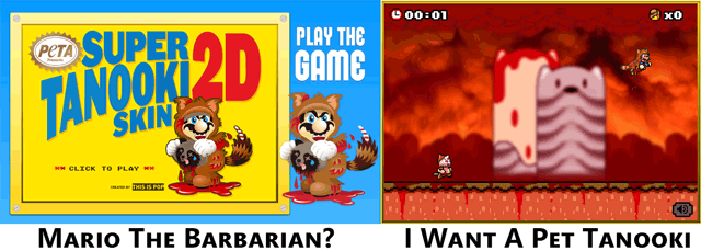 Tanooki Mario Fur Game