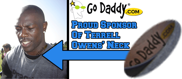 Terrell Owens GoDaddy Tattoo