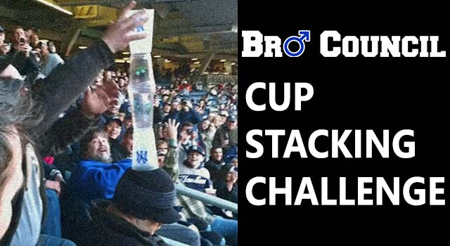 Bro Council Cup Stacking Challenge