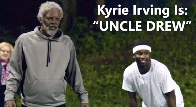 "Kyrie Irving In Old Man Gear Schools ""Young Bloods"""
