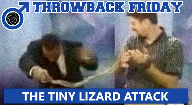 Throwback Friday: Tiny Lizard Attacks Reporter