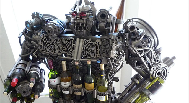 The Transformers Wine Rack
