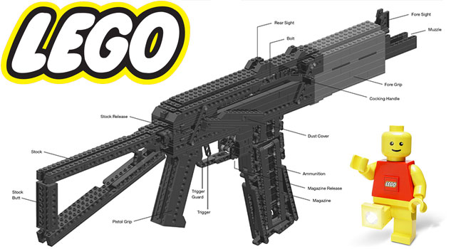 Heavy Weapons Made With LEGO's - AK-47 And More