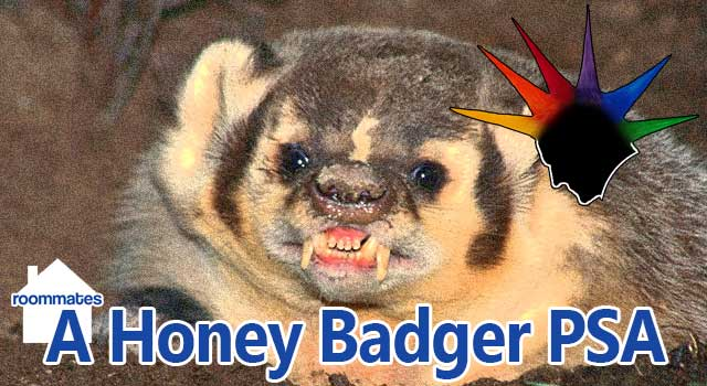Roommates: Honey Badger PSA