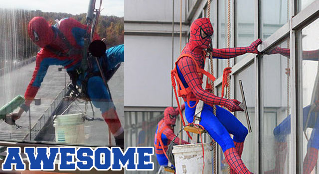 spiderman-window-washers