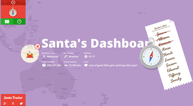 Check Out The Santa Tracker