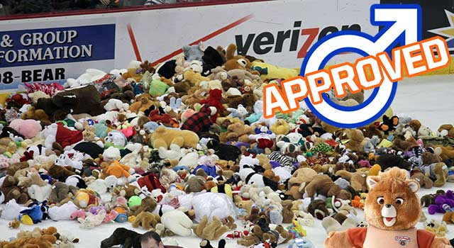 Hockey Teddy Bear Toss