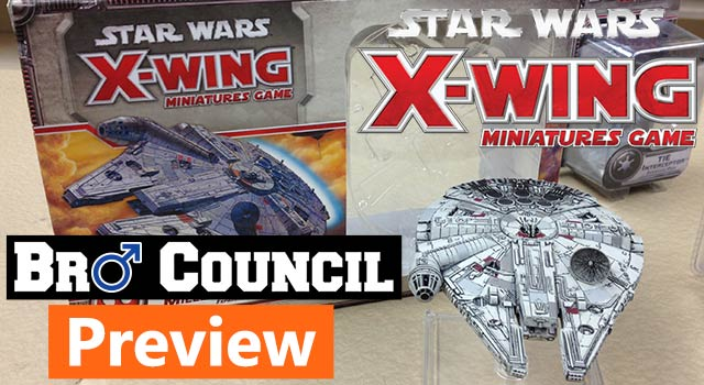 Star Wars X-Wing Miniatures Preview - Millennium Falcon and Slave 1