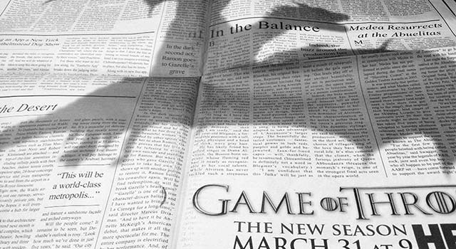 Game of Thrones: An Awe-Inspiring Newspaper Insert