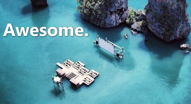 A Floating Movie Theater In Thailand