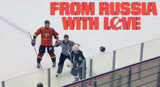 Russian Referee Fights Hockey Player