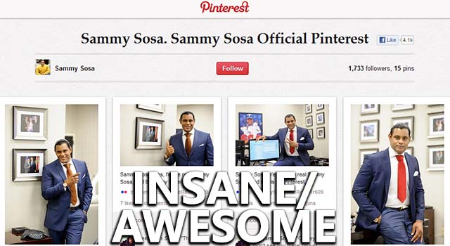 Former NFL Player Mocks Sammy Sosa's Pinterest