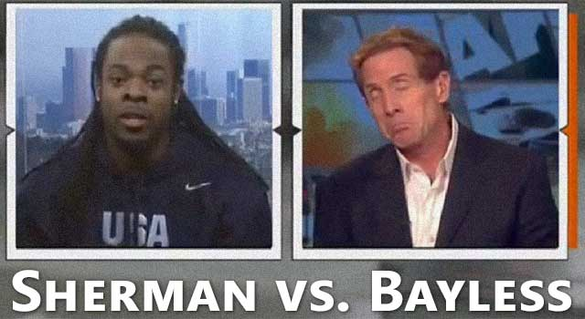 Richard Sherman vs. Skip Bayless on ESPN