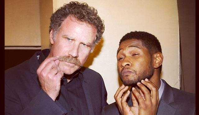Usher and Will Ferrell