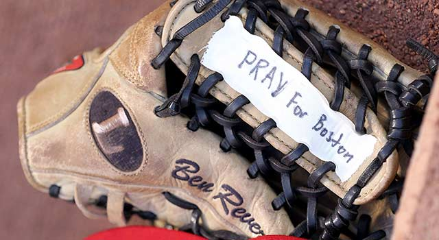 Ben Revere's Pray For Boston Glove