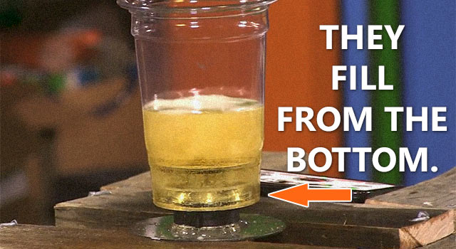 How To Make Your Own Bottoms-Up Beer Dispenser