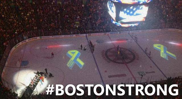 Boston Bruins Crowd Sings The National Anthem