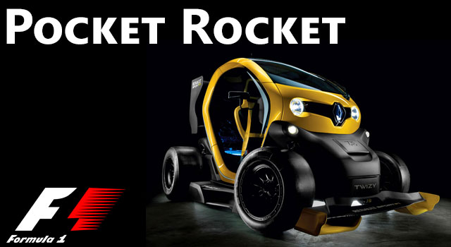Tiny Electric F1 Racing Two-Seater - The Twizy!