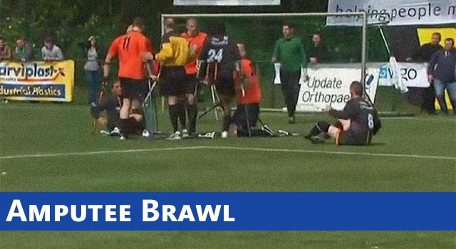 Amputee Brawl: At A Charity Soccer Match