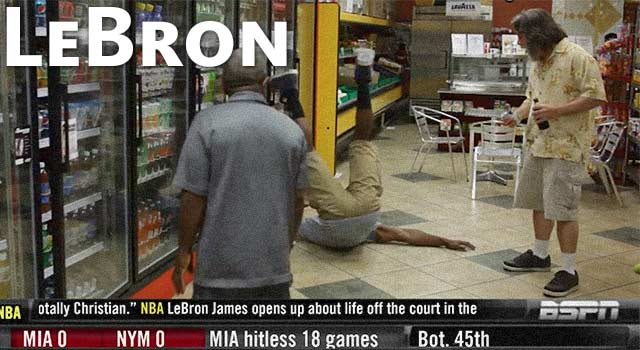 In Honor Of The Miami Heat: LeBron Flops Like A Champion
