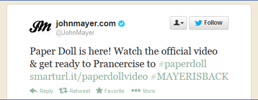 Mayer Prancercise Tweet