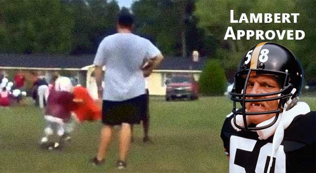 Pee-Wee Football Player Destroys Teammates