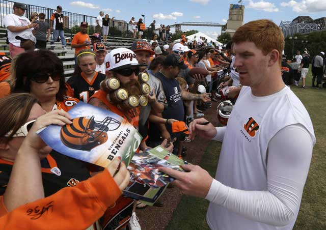 Bengals Beer Beard (or Beerd) Meets Andy Dalton