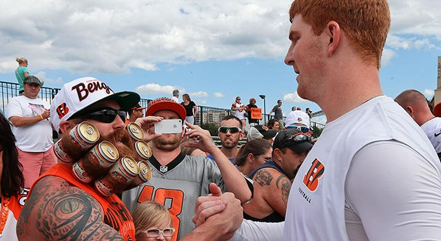 Bengals Fan With Beer Beard Is A Former Beard Of The Month