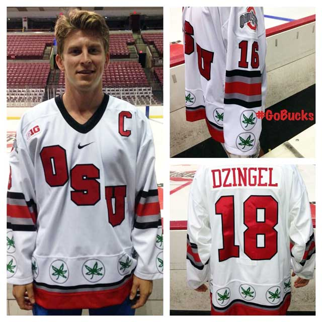 Ohio State Marijuana Themed Hockey Jersey