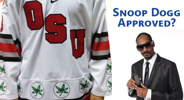 Ohio State Unveils New Marijuana Themed Hockey Jerseys