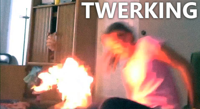 Girl Catches On Fire Trying To Twerk