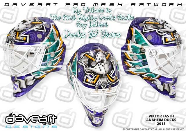 Mighty Ducks Goalie Mask Viktor Fasth