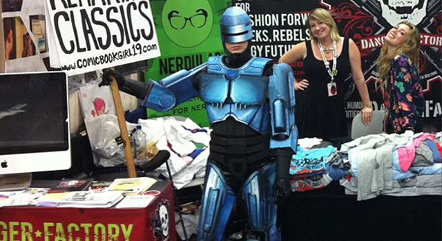 One Girl + A Bunch Of Cardboard = A Perfect Robocop Costume