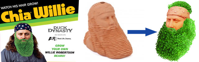 Chia Pet Duck Dynasty - Grow a Beard!