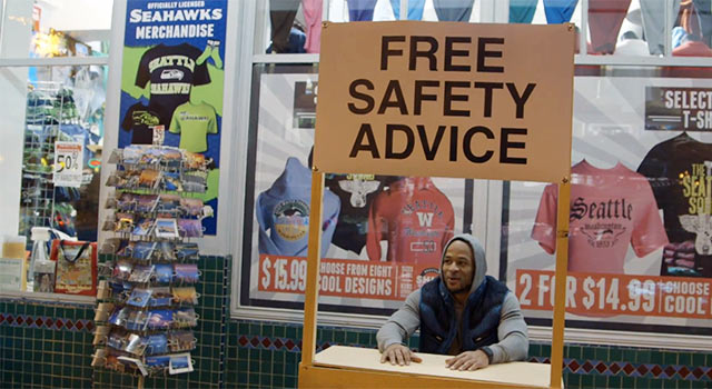 Seahawks Free Safety Gives Free Safety Tips To Seattleites