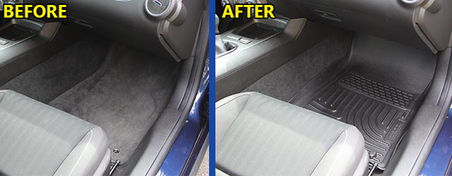 Husky Floor Mats Before and After