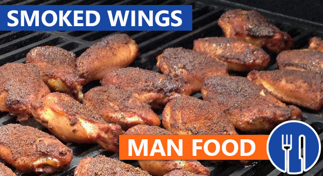 Man Food: Smoked And Grill-Fried Bourbon Chicken Wings