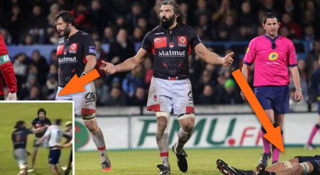 "Rugby's ""Caveman"" Knocks Out Opponent With Huge Right Hook"