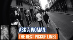Ask A Woman: Pickup Lines?