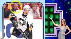 Pat Sajak Is On A Sidney Crosby Hockey Card